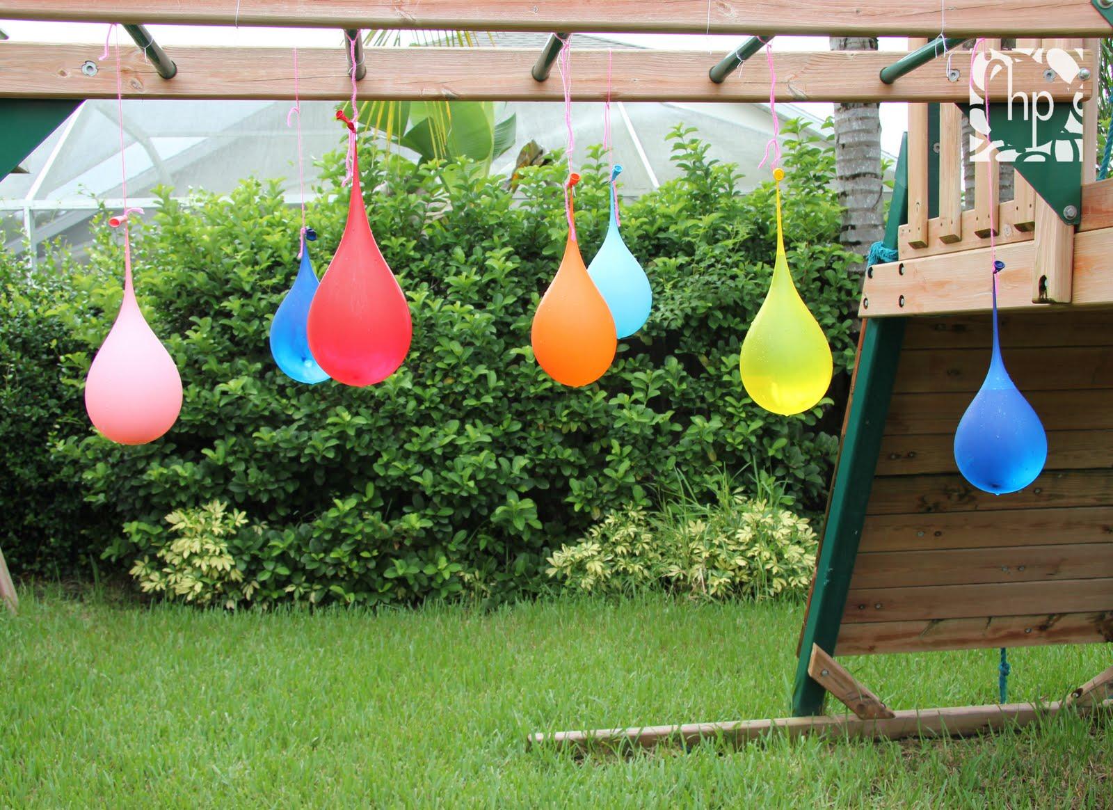 Les piñatas d'eau
